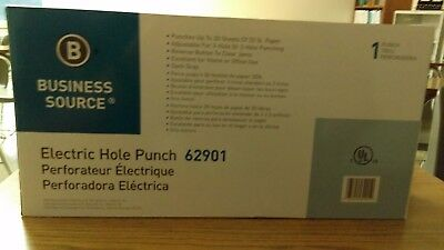 Business Source Electric Three-Hole Punch - BSN62901 brand new!