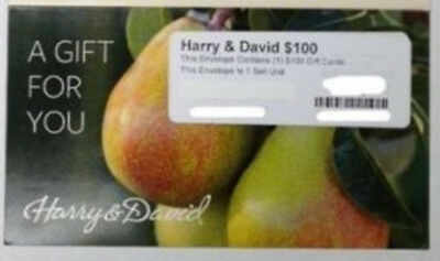 $100 Harry & David Gift Card shipped by US Postal Service, free shipping.
