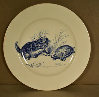 """Mintons Kitten and Turtle plate 10 1/2""""  NR"""
