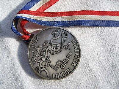 Gillette London Marathon medal 1982.