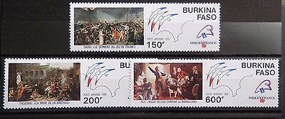 Burkina Faso 1989' Philexfrance 89' Set. MNH.