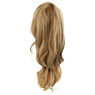 Glamorous Women Brown Curly Wig Mid Length Curly Wig with Free Wig Cap