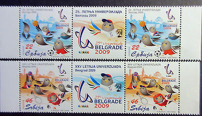 Serbia 2009 Summer University Games.2 Sets With Label. MNH.