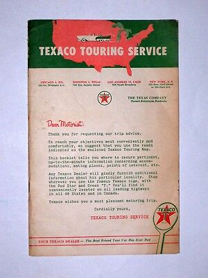 1950's TEXACO TOURING SERVICE booklet & 1956 CHEVROLET OWNER'S MANUAL