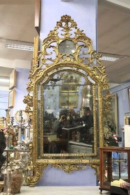 Mirror Wood Paint And Golden, Piedmont, Period Eighteenth Century / Mirror