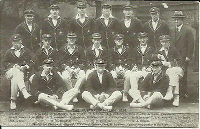 1926 THE AUSTRALIAN TEAM - T.Bolland postcard, superb condition!