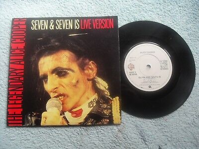 """ALICE COOPER SEVEN AND SEVEN IS WARNER BROS RECORDS 7"""" SINGLE in GATEFOLD SLEEVE"""