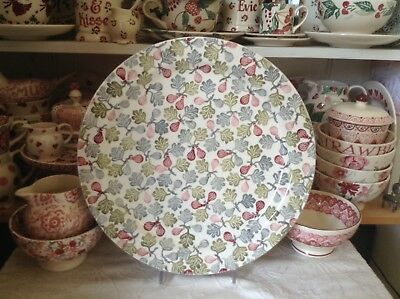 Emma Bridgewater Collectors Day Special pink tiny figs cake plate