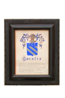 Frame From' Early '900 Wood Ebonized With Decorations A Guilloches