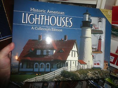HISTORIC AMERICAN LIGHTHOUSES (SET OF 6) PLUS Book -2013 BARNES AND NOBLE,  SEAL