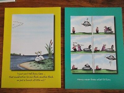 """(2) Vintage """"The FAR SIDE"""" Birthday Cards LOT OF (2) MINT with Envelopes LOOK @@"""