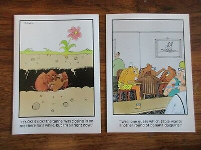 2 Vintage The Far Side Blank Cards Lot Of 2 Mint With Envelopes