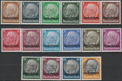 Stamps German Occupation of Lorraine. 1940.