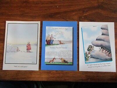 """(3) Vintage """"The FAR SIDE"""" """"Other Occasion"""" LOT OF (3) MINT with Envelopes NEW"""