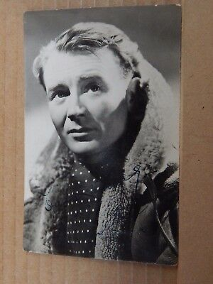 Film Star postcard John Mills Hand Signed  Real Photo unposted