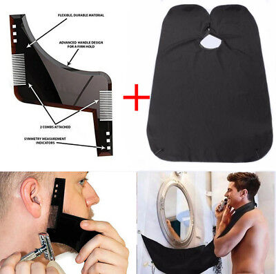Men Beard Shaping Tool Perfect Symmetry Comb Lines Template Styling Neck Mens