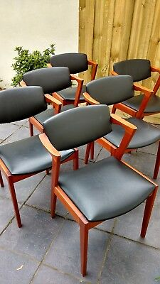 6 X Danish Mid Century Modern Teak Armchair Dining Chairs (6 Chairs in total)