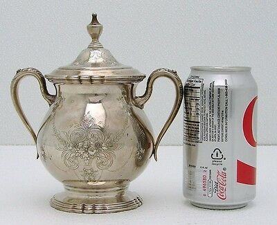 International Silver Lady Mary Covered Sugar Urn Bowl with Urn Finial Wilcox Co.