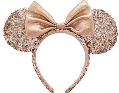 disney world disneyland authentic rose gold minnie mouse ears new picclick ca. Black Bedroom Furniture Sets. Home Design Ideas