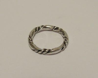 Kalo Sterling Silver Ring Arts & Crafts Hand Crafted Size 5, Signed Vintage
