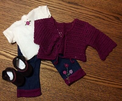 american girl doll flower power outfit complete