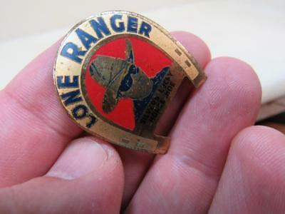Lone Ranger Silvers Luck Horseshoe Pin 1930's Awesome   (17j2)