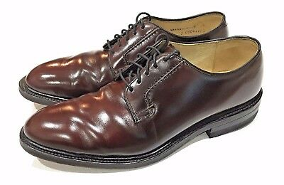 Vintage Iron Age Safety Shoes Brown Leather Lace Steel Toe Oxford Derby Men 8.5D