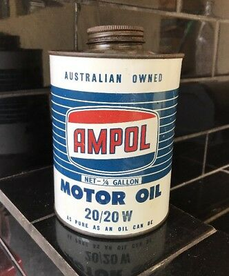Ampol 1 Quart Vintage Gearlube Collectable Oil Tin NEAR MINT