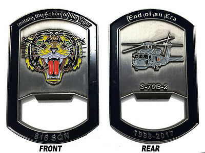 816 Squadron Sikorsky S-70B-2 Seahawk End of an Era Coin / Bottle Opener