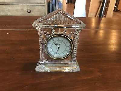 Stunning Waterford Crystal Acropolis Shelf Clock