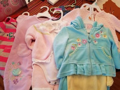 Lot of baby girl clothes, sized 3 months--Carter's, Hartstrings