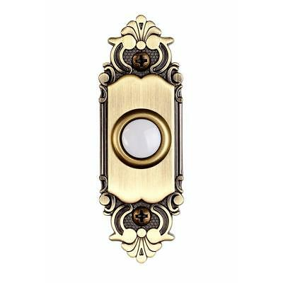 Hampton Bay HB-925-02 Wired Lighted Door Bell Push Button Antique Brass