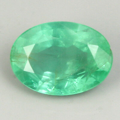 Gorgeous 0.89ct Oval 7x5mm Top Quality Natural Top Green Emerald Unheated Brazil