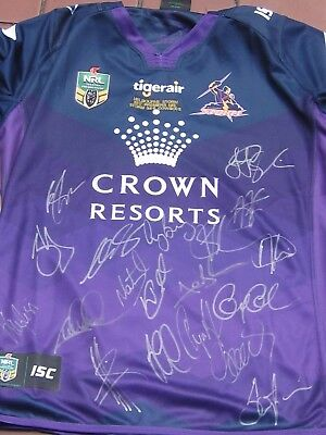 Melbourne  Storm 2017 Signed Jersey By 19  + Plaque.prints Figurine ,photos