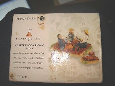 Depart 56 Seasons Bay An Afternoon Picnic NEW IN BOX - RARE!