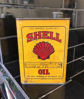 Shell 1 Quart Hand Separator Vintage Oil Tin