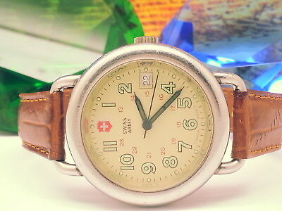 Vintage Swiss-Army Brave-Heart Model 330Ft Military-Diver 12Hr/24Hr Mens Watch