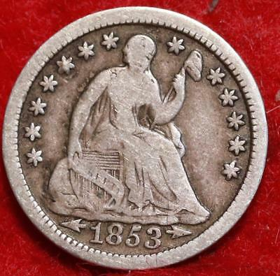 1853 Philadelphia Mint Silver Seated Liberty Half Dime Free S/H