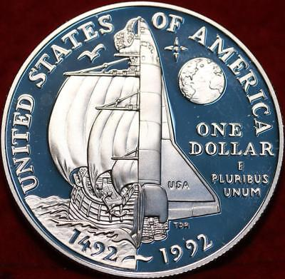 Uncirculated Proof 1992 Columbus Quincentenary  SilverDollar Free S/H
