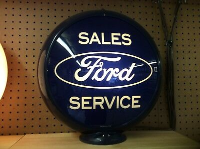 "Ford Service Advertising Gas Pump Globe 13.5"" Lenses [-Gas & Oil-]"