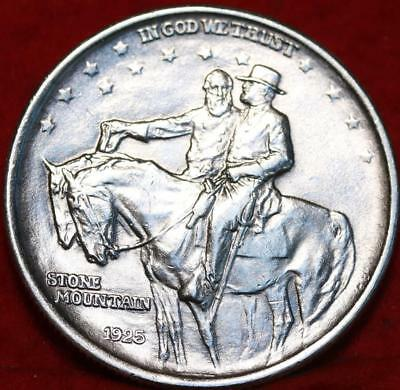 Uncirculated 1925 Stone Mountain  Silver Comm Half Dollar Free S/H