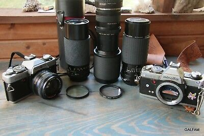 Lot cameras , Lens and  filters canon sigma minolta untested