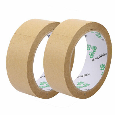 2pcs 35mmx23M Seal Pack Hot Melt Adhesive Electrical Insulation Tape Tawny
