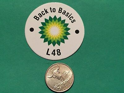 Bp Back To Basics White L48 Gas Field Oil Drilling Hardhat Oilwell Decal Usa