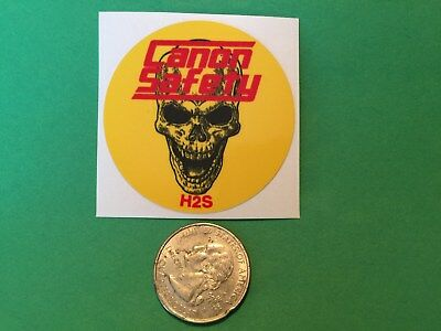 Canon Safety H2S Gas Field Oil Drilling Hardhat Ruff Neck Decal Usa Oilwell