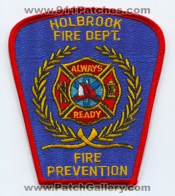 Holbrook Fire Department Fire Prevention Patch New York Ny Always Ready Dept.