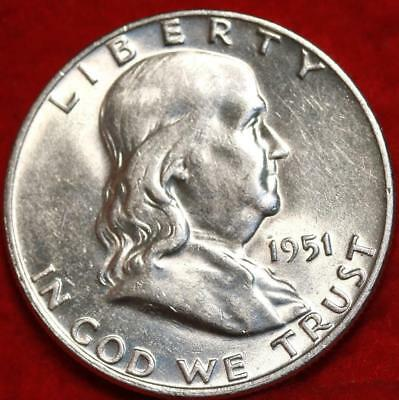 Uncirculated 1951-D Denver Mint Silver Franklin Half Free Shipping