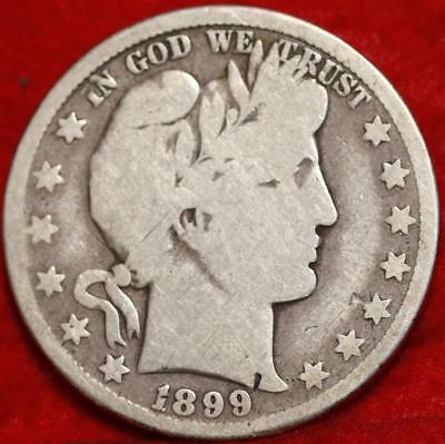 1899-O New Orleans Mint Silver Barber Half Dollar Free Shipping!