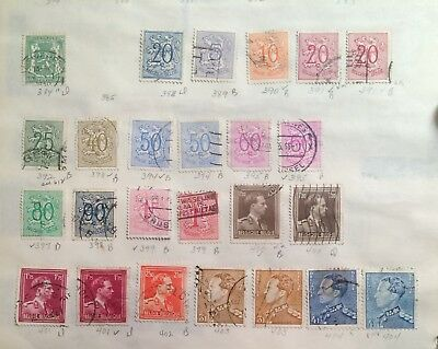 postage stamps Belgium  lot of 25  old     O