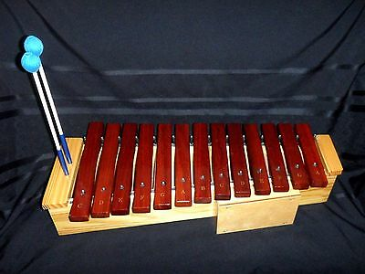 Rhythm Band Instruments 13 Bar Soprano Diatonic Xylophone w/ Bergerault Mallets!
